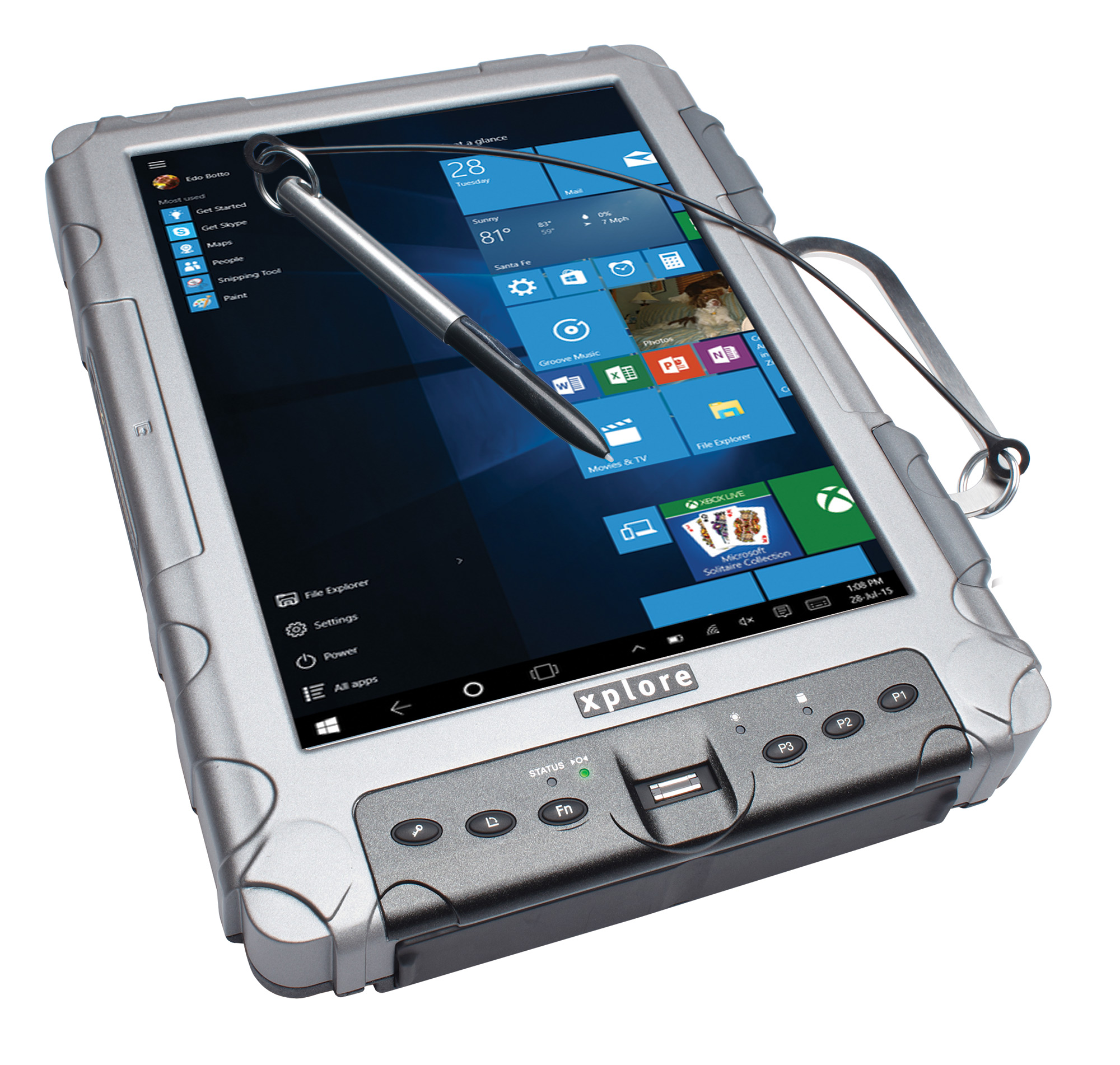 us technologies pc tablet rugged xslate rug xplore fully video